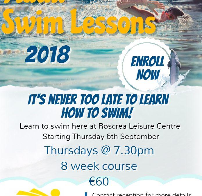 Adult Swim Lessons September 2018