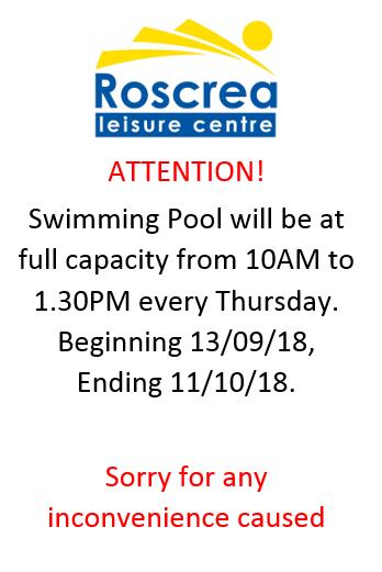 School Booking Thursday 13th September – 11th October 2018