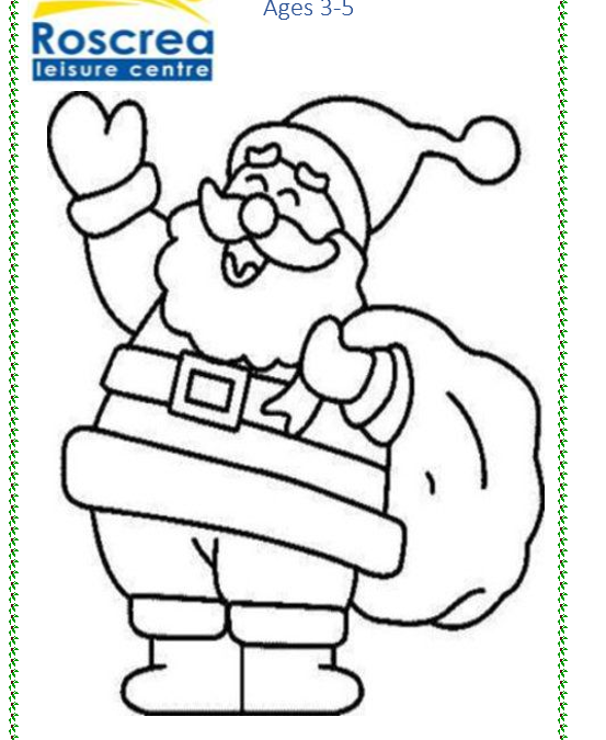 Christmas Colouring Competition (Print off your copy and drop into the centre. Closing date Friday 14th December) Please put name, contact number & age on the back.