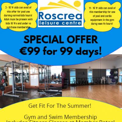 Summer Offer – 99 days for €99