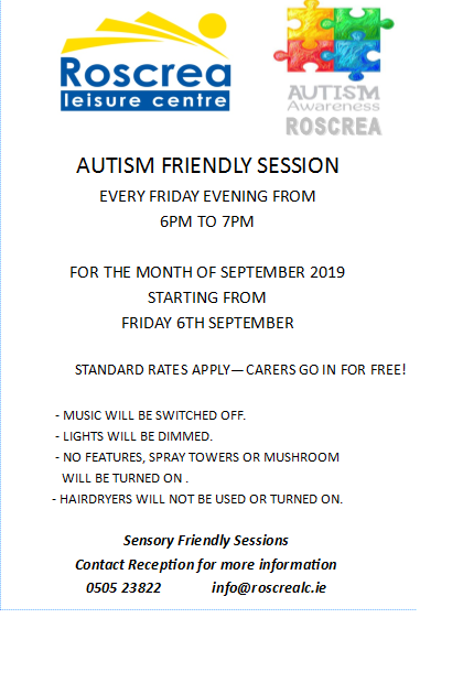 Autism Friendly Sessions