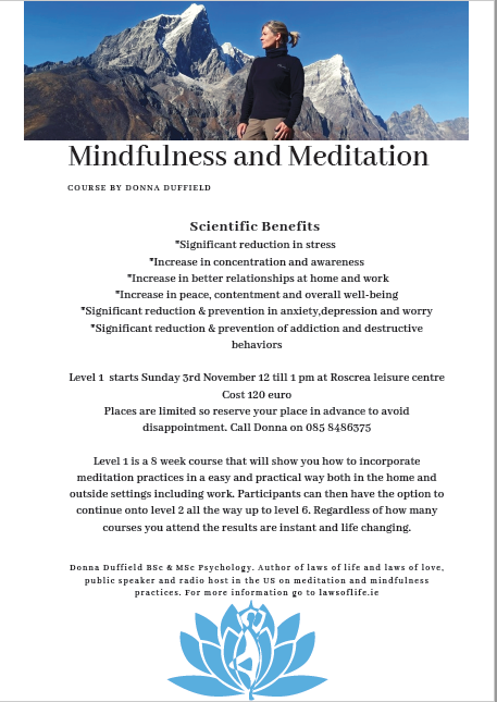 Mindfulness & Meditation By Donna Duffield