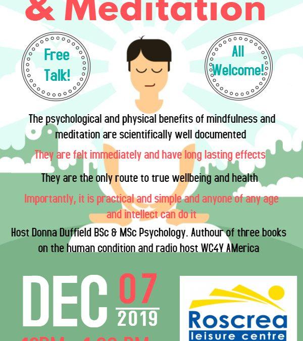 Free Mindfulness & Meditation Talk December 2019
