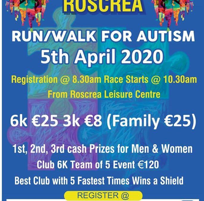 Autism Awareness Run/ Walk on 5th April 2020