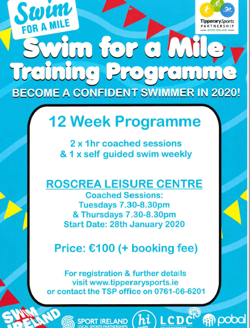 Swim A Mile Challenge January 2020