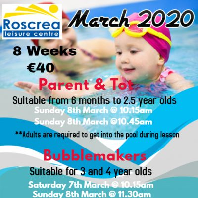 Parents & Tot/ Bublemakers March 2020