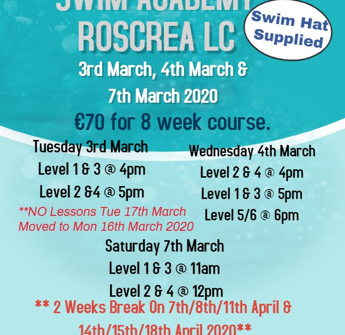 Swim School March 2020