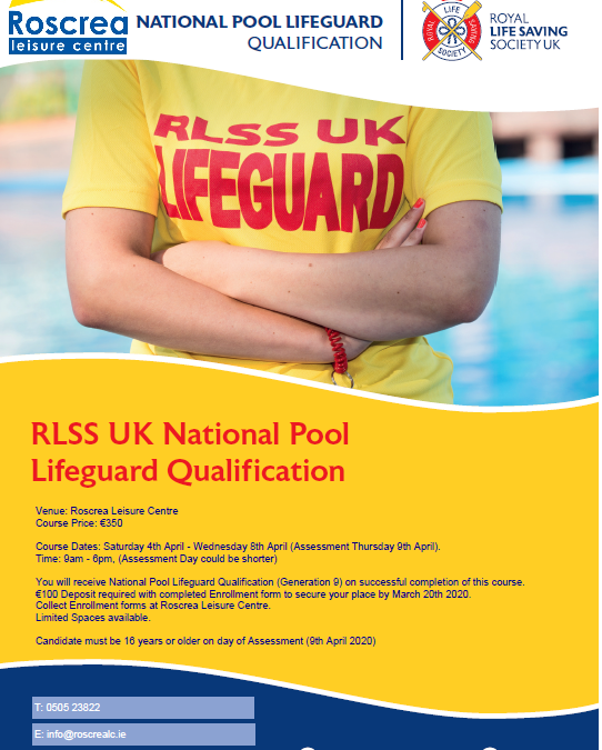Lifeguard Course April 2020