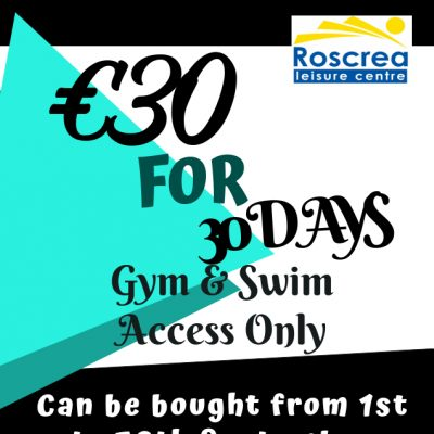 €30 for 30 days Membership offer