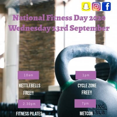 National Fitness Day  2020 Wednesday 23rd September