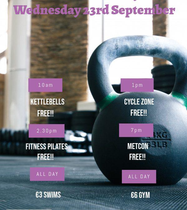 National Fitness Day  2020 Wednesday 23rd September