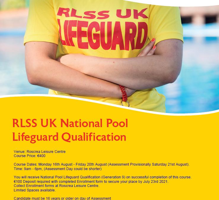 Lifeguard Course August 2021
