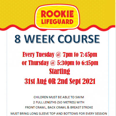 Rookie Lifeguard Lessons September 2021